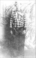 Juan Rael in his cowboy days. (Click to enlarge.)