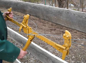 Fence stretcher - like having two, really strong extra hands to hold and stretch the wire in your electric horse fencing design.