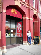 Old Fire House Books - new home of Winning Bet - Karin Livingston - Fort Collins - Colorado - Photo by Gregg Doster