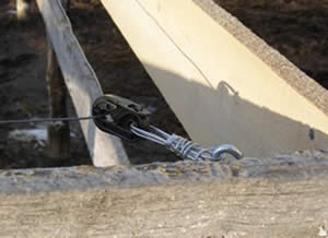 Plastic corner insulators - a different model we at Poudre River Stables are trying for our electric horse fencing.