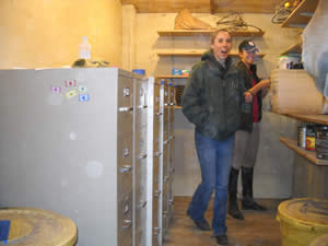 Hello, mouse-proof, affordable grain storage! Hello, neat and tidy feed room!