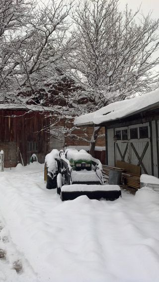 Our John Deere 950 blew a rod while plowing heavy snow - Poudre River Stables - Fort Collins - Colorado - 80521