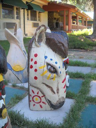 Knight horse chess piece (3) - Saratoga Resort and Spa - Saratoga - Wyoming - USA