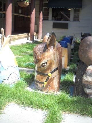 Knight horse chess piece - Saratoga Resort and Spa - Saratoga - Wyoming - USA