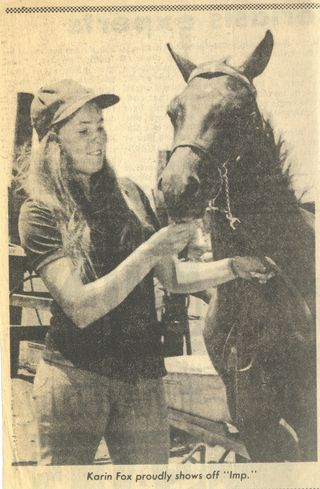 Triton Emperor - approximately 18 months old - with Karin Livingston