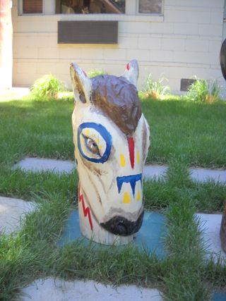 Knight horse chess piece (2) - Saratoga Resort and Spa - Saratoga - Wyoming - USA