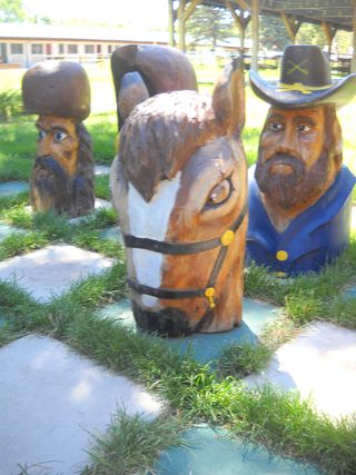 Knight horse chess piece (1) - Saratoga Resort and Spa - Saratoga - Wyoming - USA