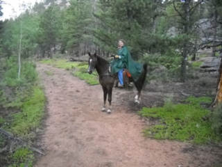 My old poncho soaked up the rain like a sponge, leaving me cold and wet the last hour of our ride.