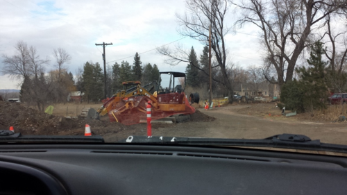 N. Shields St. demolition - new sewer line - road widening - Fort Collins - Colorado - 80521