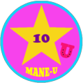 All-Star 10 Horse Badge from www.mane-u.com