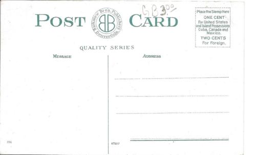 Sagebrush to irrigation - postcard back - calls for 1 cent postage - circa 1872